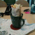 Office Hacks - Mug Burrito Holder